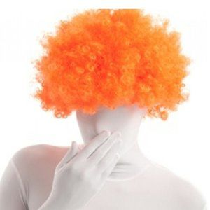 NWT Morphsuits Adult Men/Women Fuzzy Orange Wig